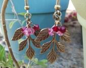 Leaf and Berries Cluster Earrings