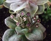 Flower Pot Earrings