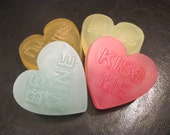 Conversation heart soaps for Valentines Day. Feb 10th is the Last Day to order to get it in time for VDAY.