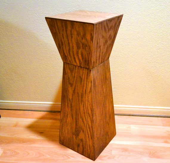 Pedestal Table Side Table End Table Casual Dining Wood Wooden Custom - The Pedestal - a MapleBear design