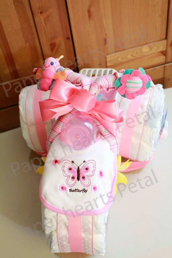 Deluxe Pink Baby Girl Butterfly And Flower Themetricycle