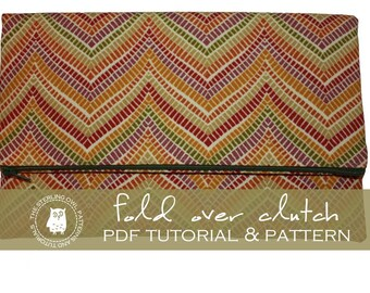 Fold Over Clutch - PDF Tutorial and Pattern