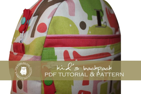 Kids Backpack - PDF Tutorial & Pattern
