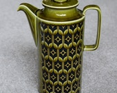 Retro 1970s Green Hornsea Pottery Coffee Pot