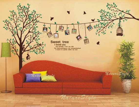 Beautiful Photograph with Flying birds on the tree-Vinyl Wall Decal,Sticker,Nature Design