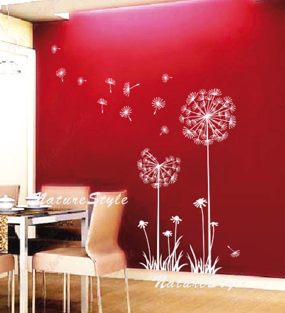Customer listing for Shelly,Floral wall decal nursery room wall decal flower vinyl wall decal dandelion wall stickers-Dandelions