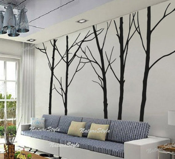 Winter wall decal trees wall decor nursery vinyl wall decal for Decoration murale 1 wall