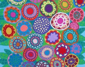 Kerri Ambrosino Art NEEDLEPOINT Mexican Folk Festive Flowers French