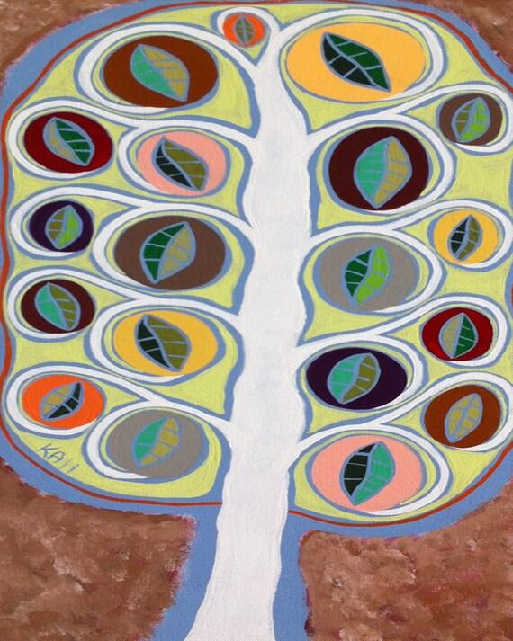 Kerri Ambrosino Art NEEDLEPOINT Mexican Folk Art Topaz Tree of Life