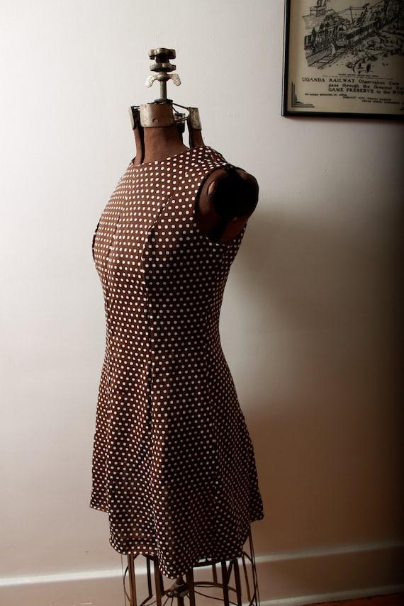 1960s Sheath Dress - Polka Dots (with matching ruffle shrug)