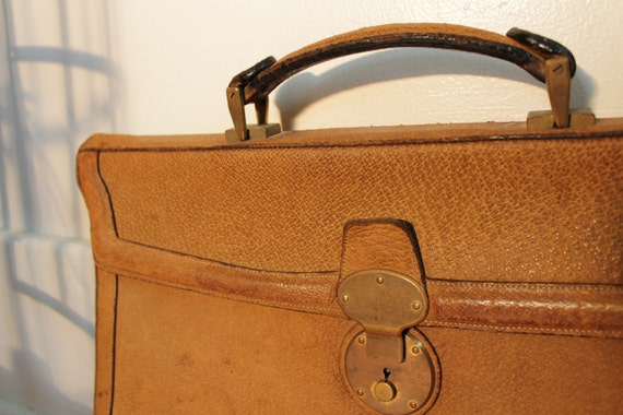 RESERVED FOR KC - Vintage Briefcase - Wild Boarhide - Exotic - by Michael Scott