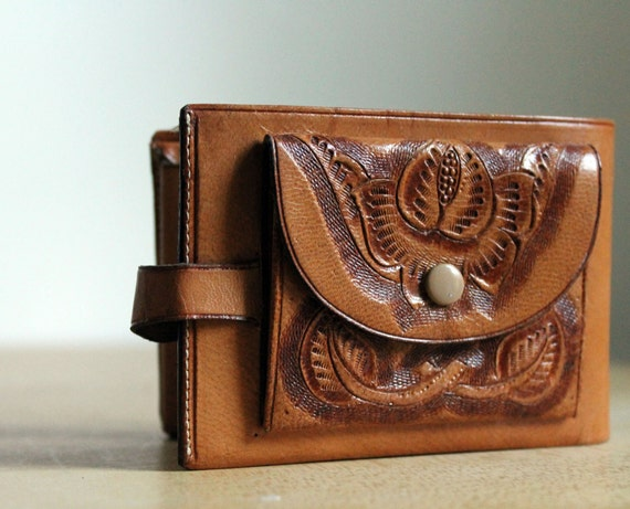 Leather Wallet - Hand Tooled - Mexican Leather
