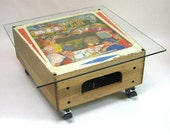 60's Central Park pinball backbox coffee table