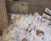 NOSTALGIC INSPIRED - Crinkled Seam Binding - Apple Blossoms - Shabby Chic - French Market - 18 Yards