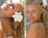 Classic Gardenia Bridal Hair Flower