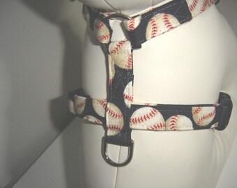 Dog Harness- The Blue Baseball