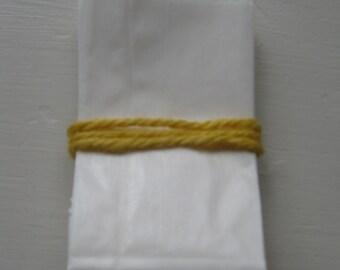 "Set Of  50 Midget WHITE GLASSINE Paper BAGS (2"" x 3.50"")"