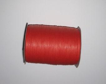 100 Yards of PAPER Red Raffia (Full Spool)