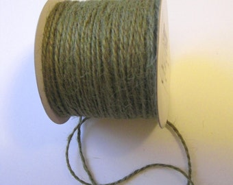50 Yards of 2mm Moss Green Jute Twine