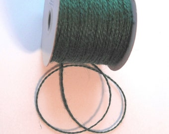 50 Yards of 2mm Hunter Green Jute Twine