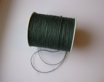 FULL SPOOL - 1mm Forest Green Jute Twine (400 Yards)