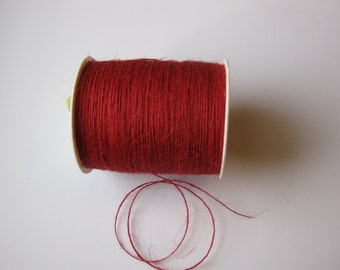 50 Yards of 1mm Red Jute Twine