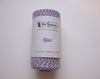 10 Yards of LILAC - Purple and White Bakers Twine