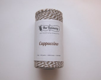 Full Spool - CAPPUCCINO - Brown and White Bakers Twine (240 yards)