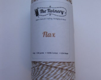 10 Yards of FLAX - Tan and White Bakers Twine