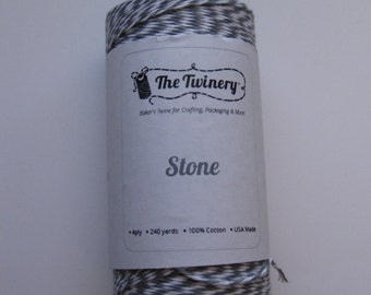 50 Yards of STONE - Gray and White Bakers Twine
