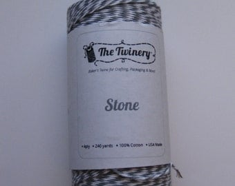 100 Yards of STONE - Gray and White Bakers Twine