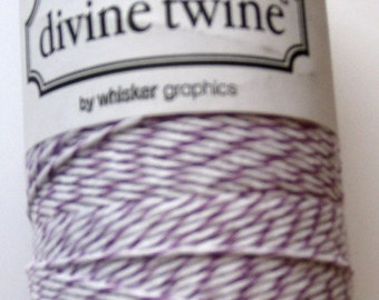 10 Yards of PLUM DIVINE - Lilac and White Bakers Twine