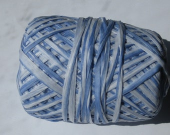 100 Yards of Ombre Sky Blue and White Paper Raffia
