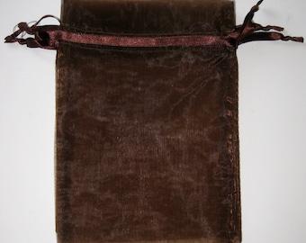 Set of 20 Brown (5x8) Organza Bags