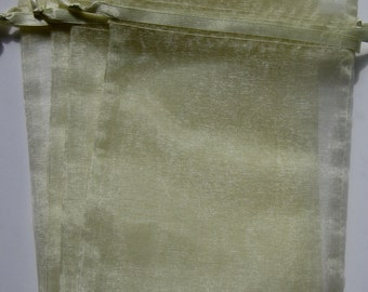 Set of 20 Baby Maize (5x8) Organza Bags