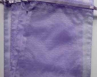 Set of 10 Lavender (3x4) Organza Bags