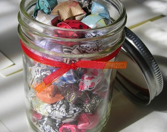 Children's Stars - Half Pint Mason Jar of Affirmation Stars for Kids