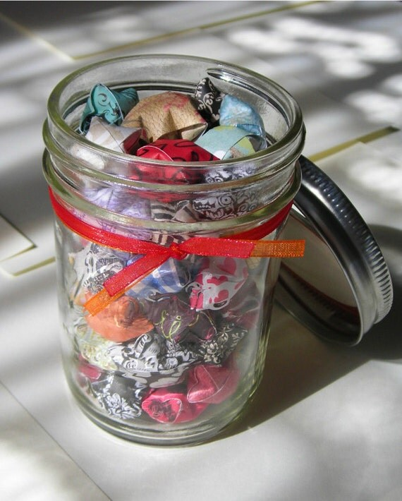 Children's Stars - Half Pint Mason Jar of Affirmation Stars for Kids