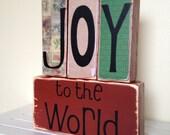 Christmas Primitive Decoration Joy to the World