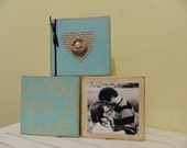 Wedding gift and housewares decoration with picture holder for anniversaries, showers and holidays