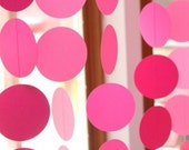 Garland or Banner or Streamers in bright and colorful circles perfect for a birthday party baby shower bridal shower or bat mitzvah