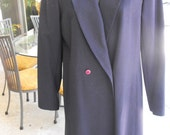 Vintage Coat Long Pin Striped Lightweight Wool spring