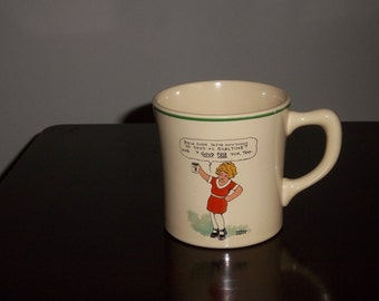 Vintage 1930's Orphan Annie Mug by the Wander Co. for Ovaltine