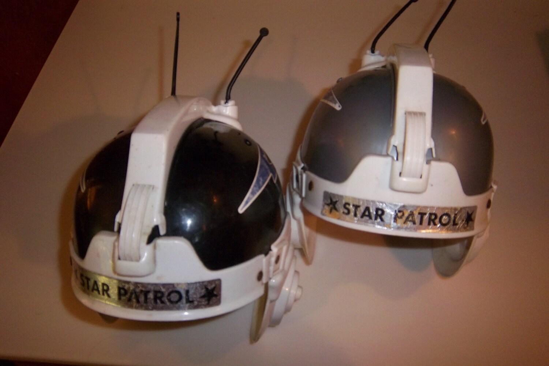 Vintage Star Patrol Plastic Toy Helmets by JaysJunque on Etsy