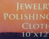 10 X 12 Jewelry Polishing Cloth For Silver, Gold, Precious Metals, Gems, Semi-Precious Stones - Gifts Under 10, 15, 20, 25, 50