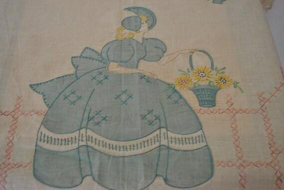 Retro Apron Panel Embroidery