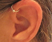 "No Piercing Handmade Ear Cuff Helix Cuff ""Captive Ball"" 1 Cuff Color Choices"