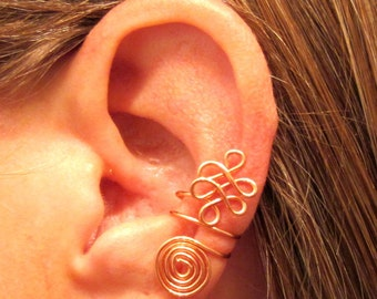 "Non Pierced ""Celtic Priestess"" Ear Cuff 1 Cuff Color Choices"