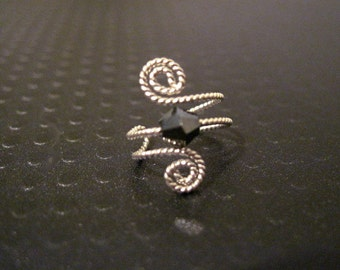 """Non Pierced Sterling Silver """"Luck of the Irish"""" Ear Cuff Conch Cartilage Twisted Wire Color Choices"""