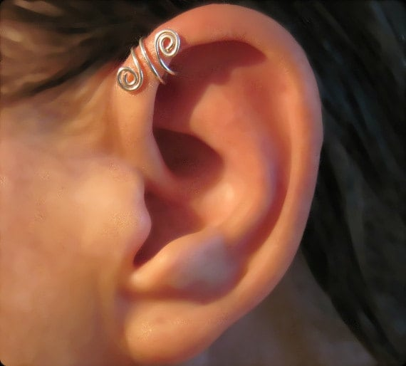 helix cuff earrings no piercing sterling silver handmade helix cuff ear cuff 5016